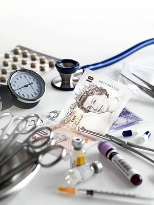 Healthcare And Medicine Photograph - Healthcare Costs by Tek Image