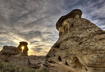 Fashion Paintings Rights Managed Images - Hoodoo Badlands Alberta Canada Royalty-Free Image by Mark Duffy