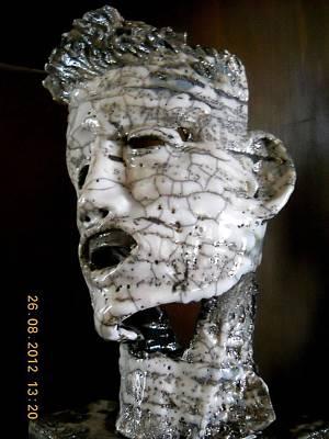 Volto Ceramic Art - Il Dolore Di Frankenstein  by Marco Viozzi
