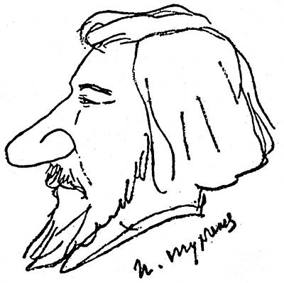 Ivan Turgenev (1818-1883) Art Print by Granger