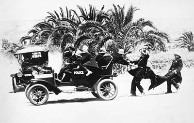 Paddy Wagon Photograph - Keystone Kops by Granger