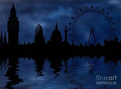 London Eye Digital Art - London Skyline by Michal Boubin