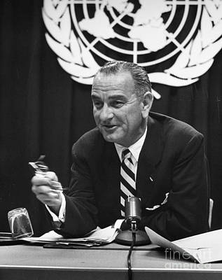 Photograph - Lyndon Baines Johnson by Granger