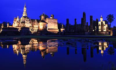 Main Buddha Statue In Sukhothai Historical Park Original