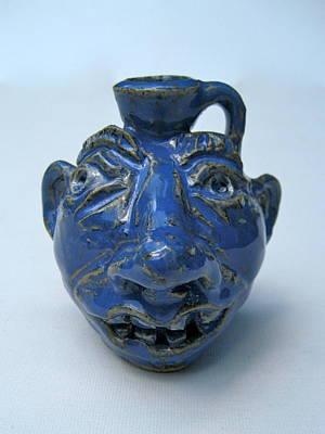 Ceramic Art - Miniature Face Jug by Stephen Hawks