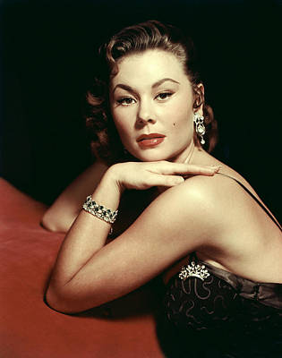 Chandelier Earrings Photograph - Mitzi Gaynor, Ca. Early 1950s by Everett