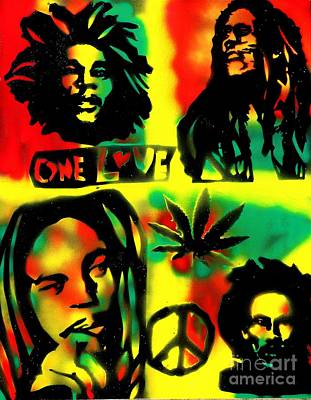 Liberal Painting - 4 One Love by Tony B Conscious