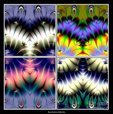 Hearts Digital Art - 4 Panel Look Hearts Ud Fractal 64 by Rose Santuci-Sofranko