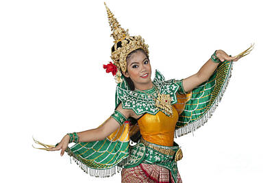 Portrait Of Thai Young Lady In An Ancient Thailand Dance Original