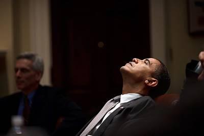 President Barack Obama Looks Art Print by Everett