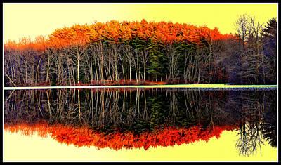 Reflections At Farrington Lake Art Print by Aron Chervin