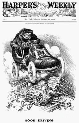 Roosevelt Cartoon, 1906 Art Print by Granger