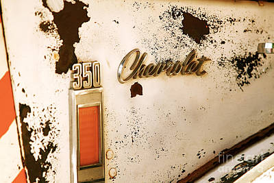 Rusted Antique Chevrolet Car Brand Ornament Art Print by ELITE IMAGE photography By Chad McDermott