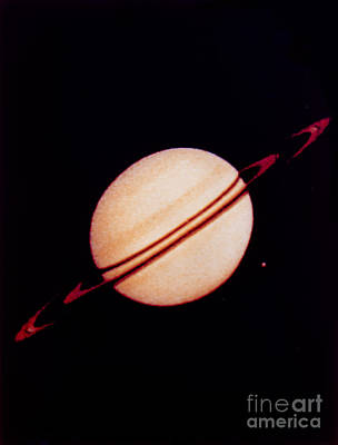 Photograph - Saturn by NASA / Science Source