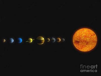 Uranus Digital Art - Solar System by Carbon Lotus