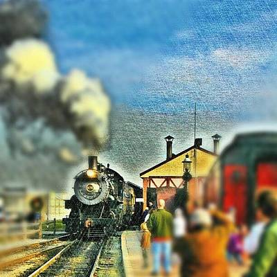 Steam Wall Art - Photograph - #strasburg #railroad #lancaster #county by Antonio DeFeo