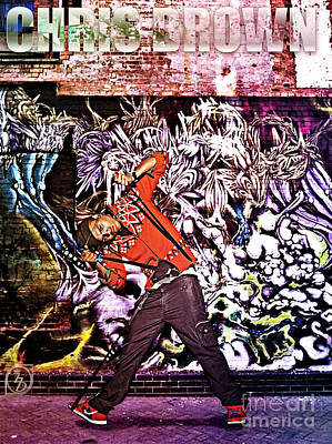Street Phenomenon Chris Brown Art Print by The DigArtisT