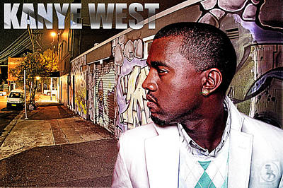 Jay Z Digital Art - Street Phenomenon Kanye West by The DigArtisT