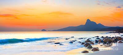 Modern Man Surf - Sunset panorama by MotHaiBaPhoto Prints