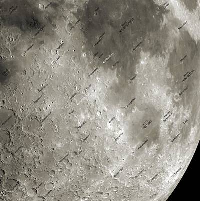 The Moon From Space, Artwork Art Print