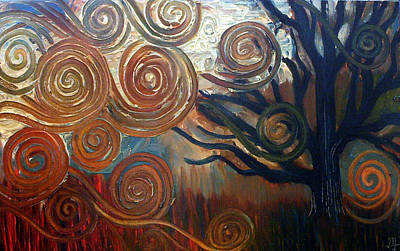 Art Print featuring the painting Untitled Tree by Monica Furlow