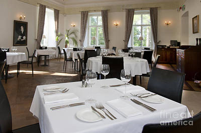 Upscale Photograph - Upscale Hotel Dining Room by Jaak Nilson