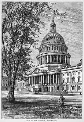 U.s. Capitol Art Print by Granger