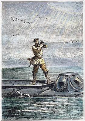 Verne: 20,000 Leagues, 1870 Art Print by Granger