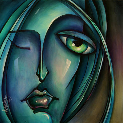 Urban Expressions Painting - Waiting by Michael Lang