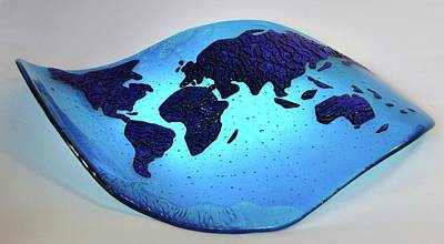 Glass Art - Warped Atlas by Michelle Ferry