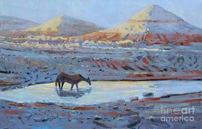 Painting - Water Hole by Donald Maier