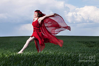 Photograph - Woman In Red Series by Cindy Singleton
