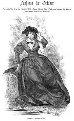 Womens Fashion, 1860 Art Print