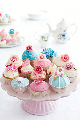 Fancy Plate Photograph - Cupcakes by Ruth Black