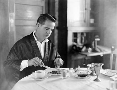 Bathrobe Photograph - Film Still: Eating & Drinking by Granger