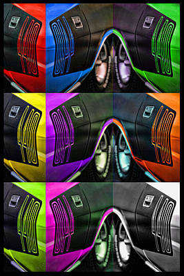 Pink Hot Rod Photograph - 440 Cuda Billboard Pop by Gordon Dean II