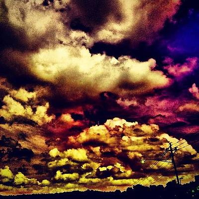 Purple Photograph - Instagram Photo by Katie Williams