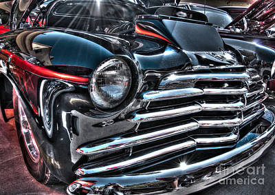 48 Chevy Convertible 2 Art Print by Anthony Wilkening