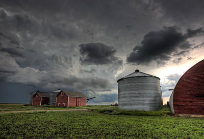 Mellow Yellow Rights Managed Images - Storm Clouds Saskatchewan Royalty-Free Image by Mark Duffy