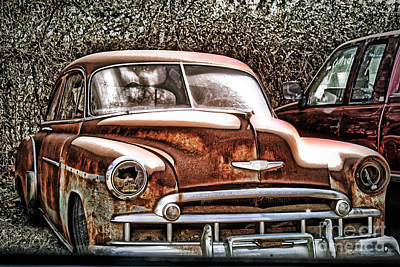 Art Print featuring the photograph 49 Chevy by Joe Finney