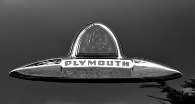 1949 Plymouth Photograph - 49 Plymouth Emblem by David Lee Thompson