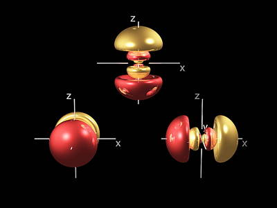 4p Electron Orbitals Print by Dr Mark J. Winter