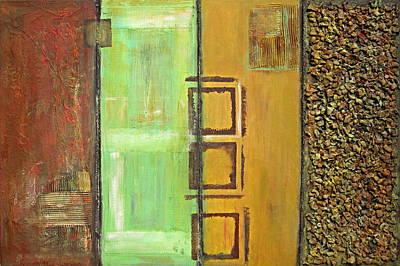 Painting - 4panel by Kathy Sheeran