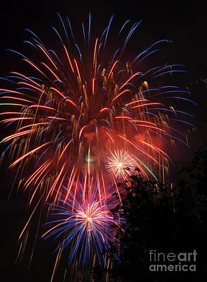 4th Of July Fireworks - Salt Lake City- Utah Art Print by Gary Whitton