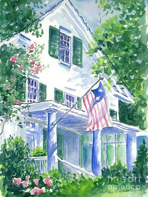 4th Of July In Georgia Art Print by Bambi Rogers