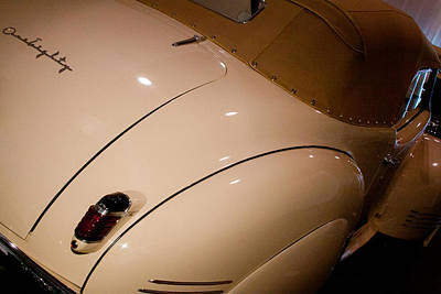 Biege Photograph - 1941 Packard Darrin Victoria Convertible by David Patterson
