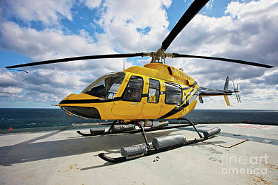 A Bell 407 Utility Helicopter Art Print by Terry Moore