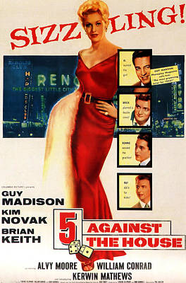 1955 Movies Photograph - 5 Against The House, Aka Five Against by Everett