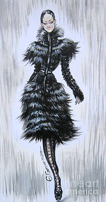 Painting - Alexander Mcqueen Autumn Winter 2011-12  by Eka Gotsiridze