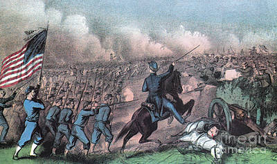 American Civil War, Battle Print by Photo Researchers
